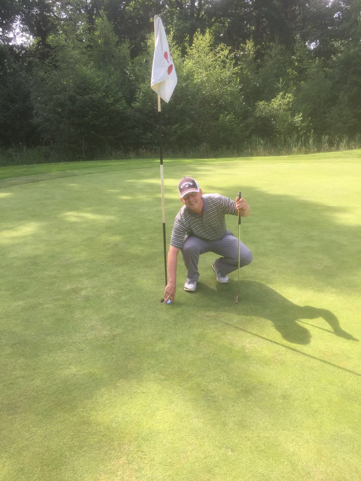 Harry Slotema slaat Hole in One